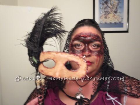 Homemade Masquerade Flesh Mask Costume