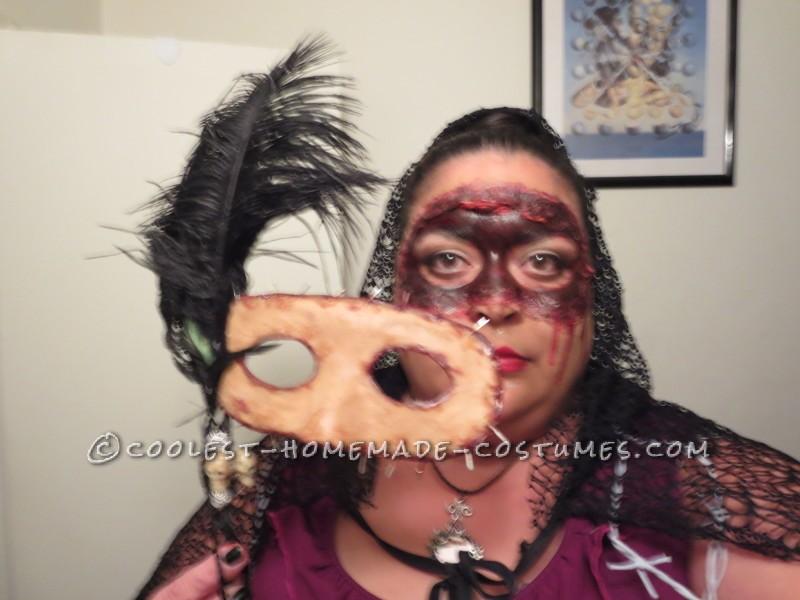 Homemade Masquerade Flesh Mask Costume - 4