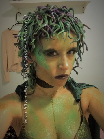 Homemade Medusa Costume - 150 Shades of Snakes