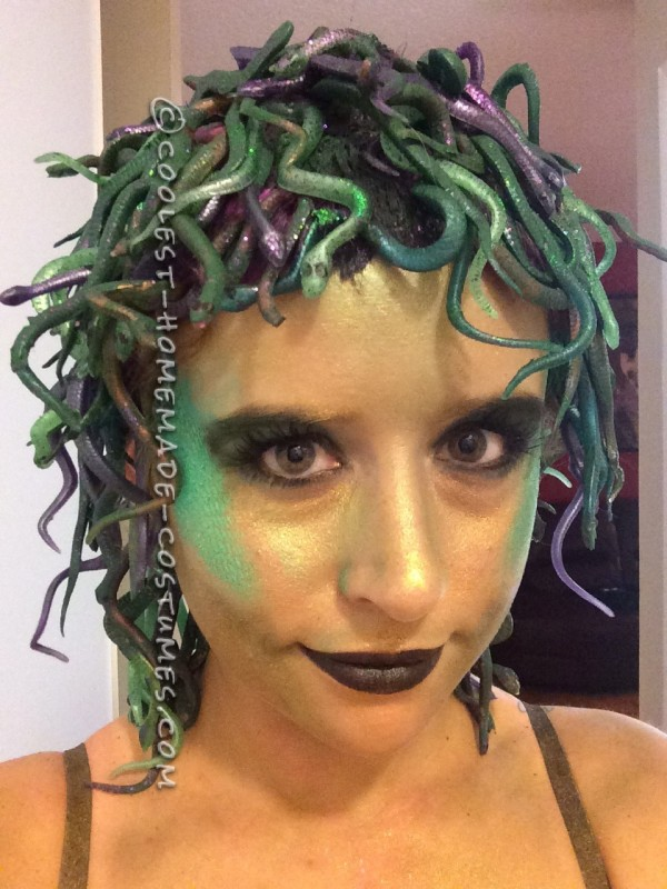 Homemade Medusa Costume – 150 Shades of Snakes - 4