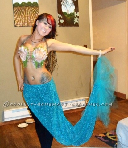 Coolest Homemade Mermaid Costume