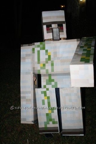 Homemade Minecraft Iron Golem Costume