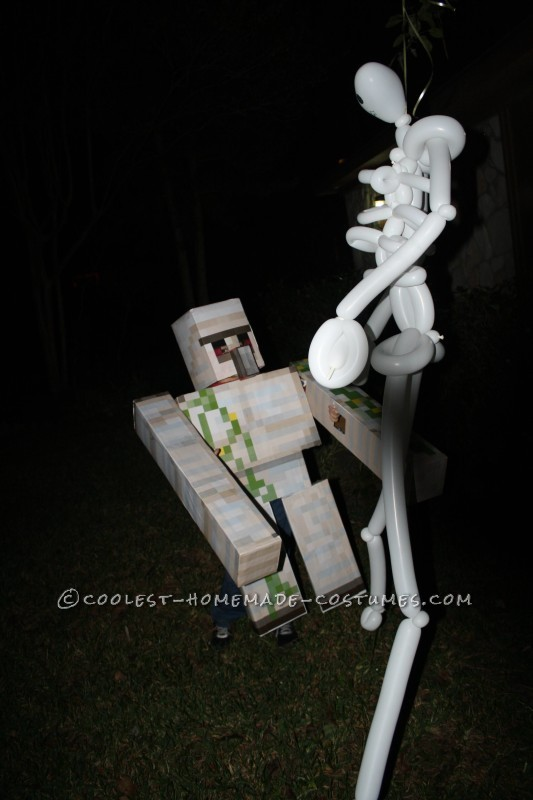 Homemade Minecraft Iron Golem Costume - 2