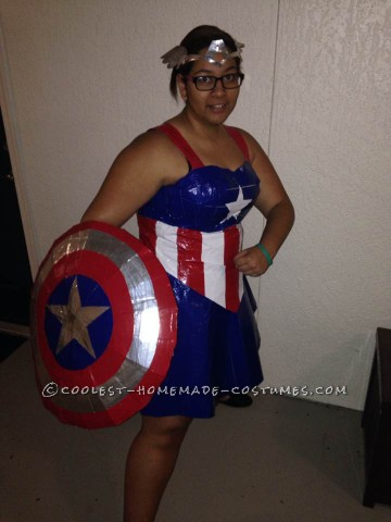 Cool Miss Captain America Halloween Costume