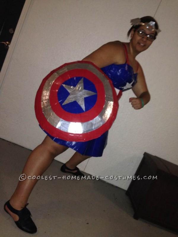 Cool Miss Captain America Halloween Costume