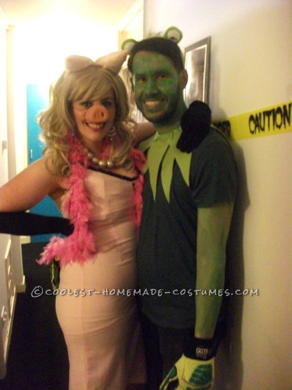 miss piggy and kermit muppets couple costume