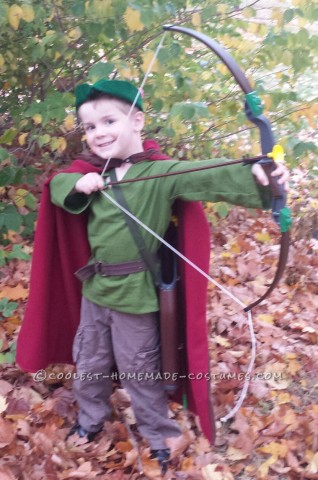 Cute Robin Hood Costume for a Boy