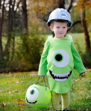 Cool Monsters Inc. Mike Wazoski Toddler DIY Costume