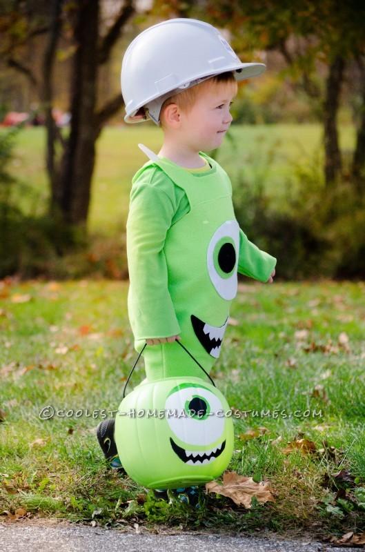 Cool Monsters Inc. Mike Wazoski Toddler DIY Costume