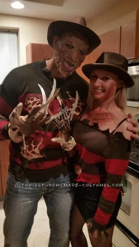 Mr. and Mrs. Freddy Krueger Couple Costume