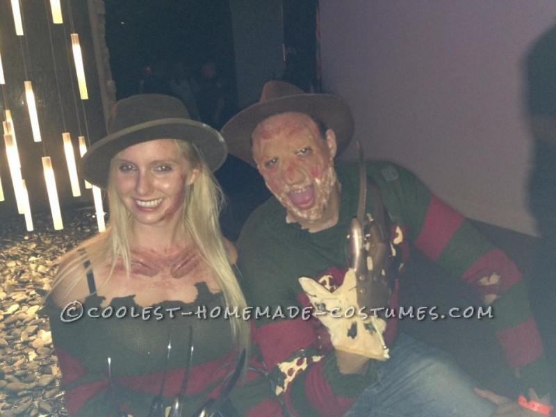 Mr. and Mrs. Freddy Krueger Couple Costume - 1