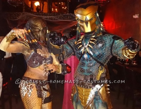 Original Homemade Mr. and Mrs. Predator Couple Costume