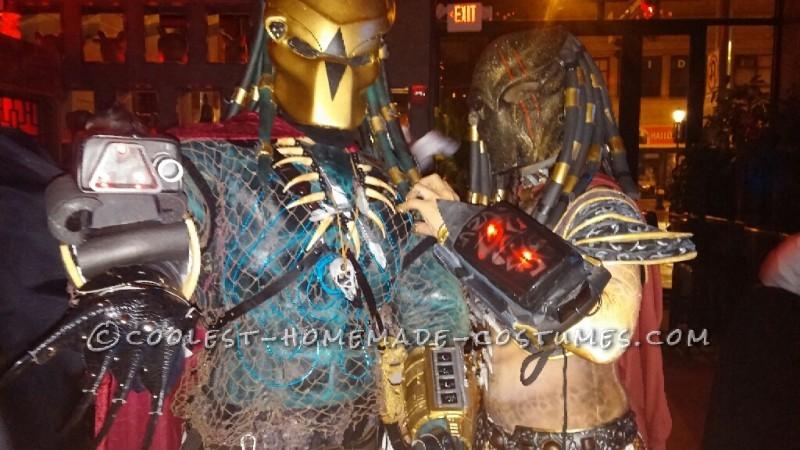 Original Homemade Mr. and Mrs. Predator Couple Costume - 9