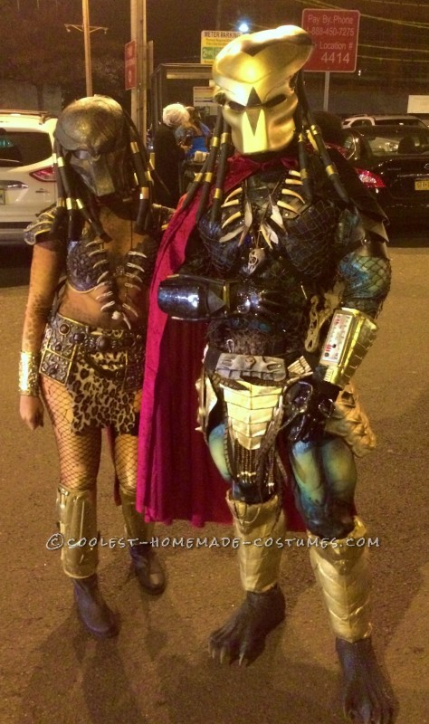 Original Homemade Mr. and Mrs. Predator Couple Costume