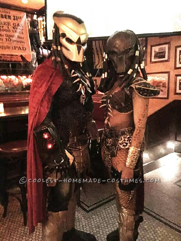 Original Homemade Mr. and Mrs. Predator Couple Costume - 2
