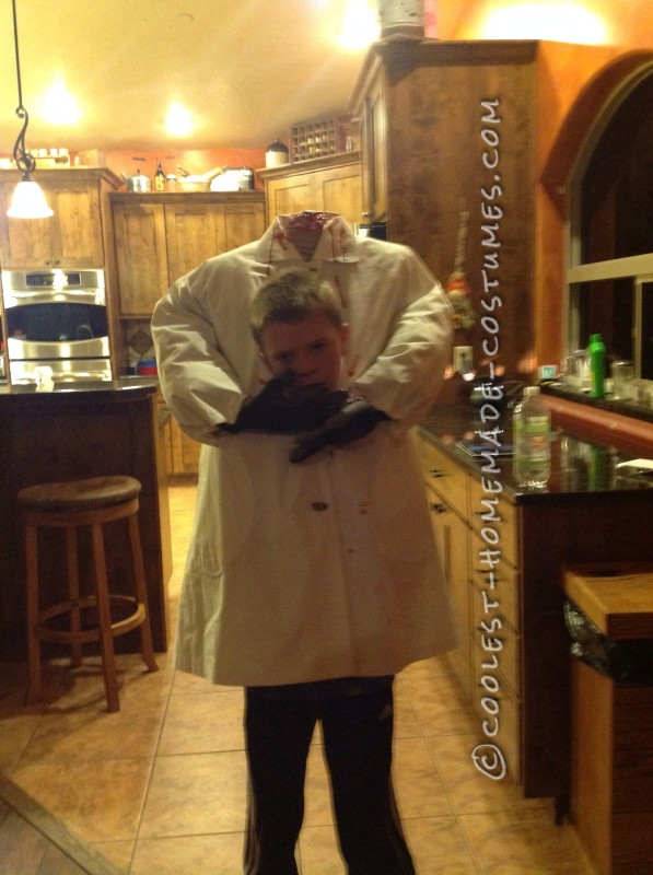 Homemade Headless Costume for a Boy - 1