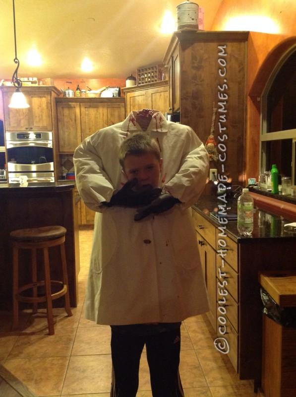 Homemade Headless Costume for a Boy