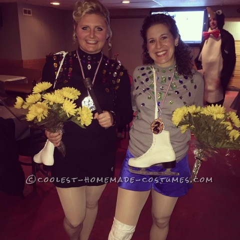Funny Nancy Kerrigan and Tonya Harding Couple Costume