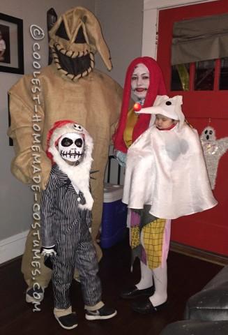 Family Nightmare Before Christmas Theme Baby Zero Costume