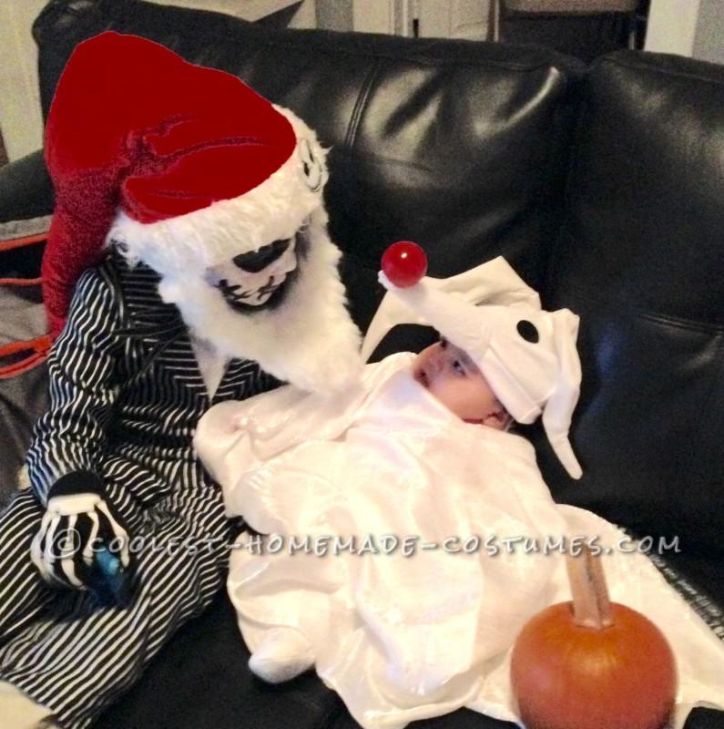 Family Nightmare Before Christmas Theme Baby Zero Costume - 3