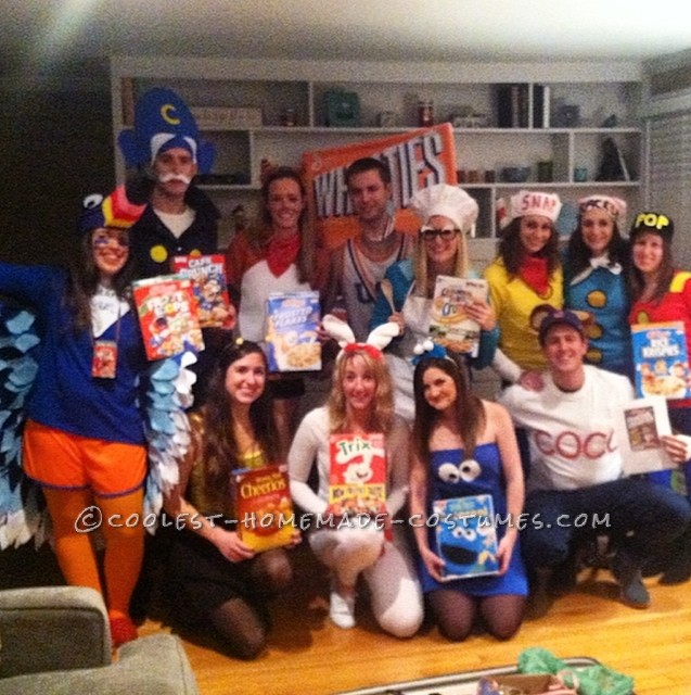 Nostalgic Cereal Mascot Group Costume