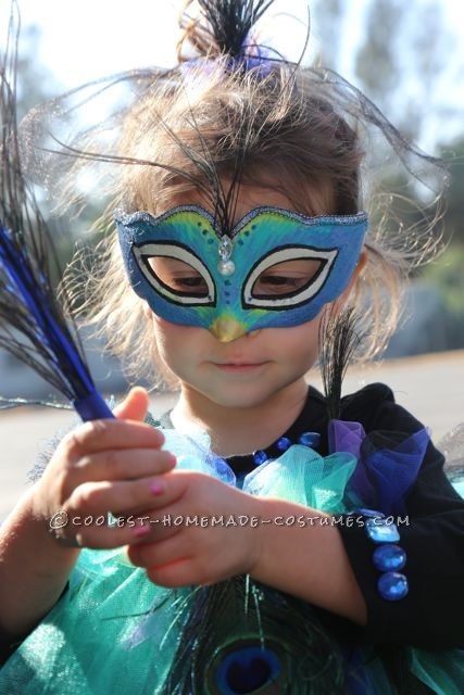 Beautiful Peacock Costume for a 3 Year-Old Girl