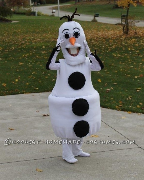 Cool Homemade Olaf Costume