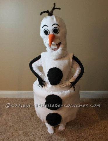 Cool Homemade Olaf Costume