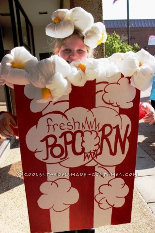 Coolest Old-Fashioned Popcorn Box Costume