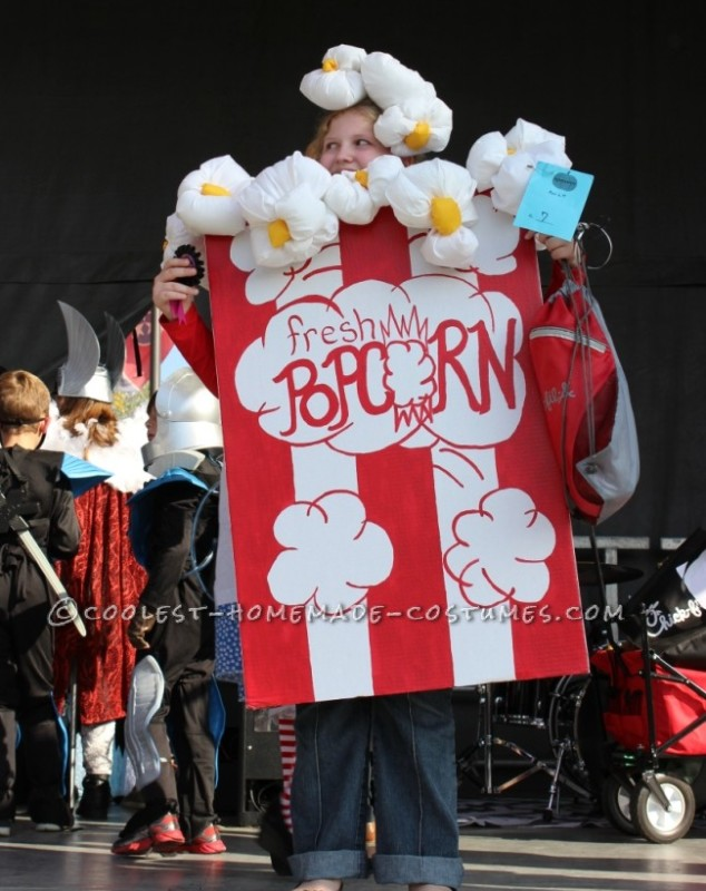 Coolest Old-Fashioned Popcorn Box Costume - 1