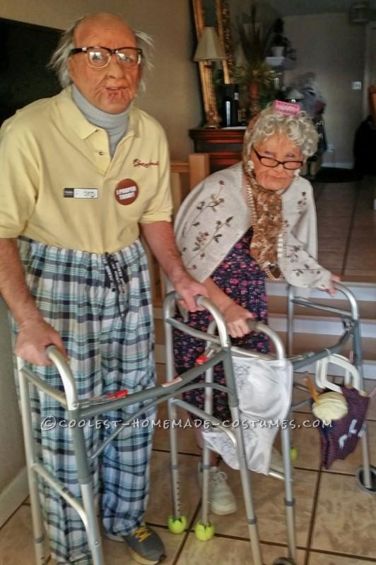 Old Folk Couple Costume - 1