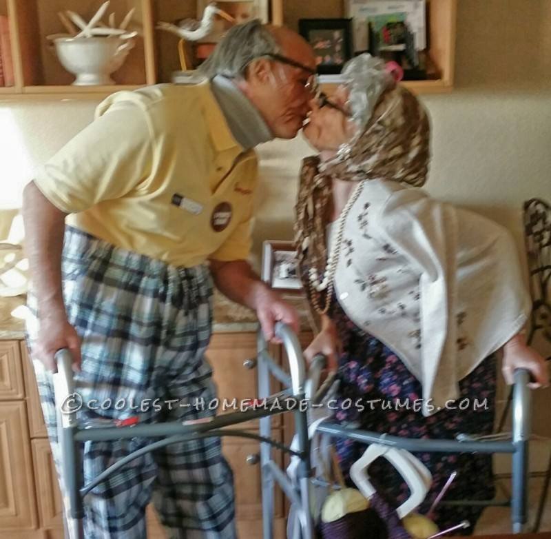 Old Folk Couple Costume - 2