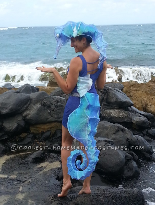One-of-a-Kind Surreal Seahorse Costume With Lights!