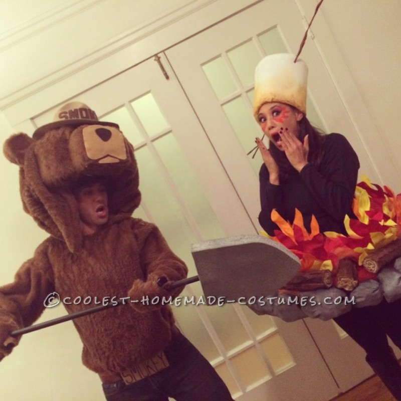 Original Smokey the Bear and Camp Fire Couple Costume - Only You Can Prevent Forest Fires!