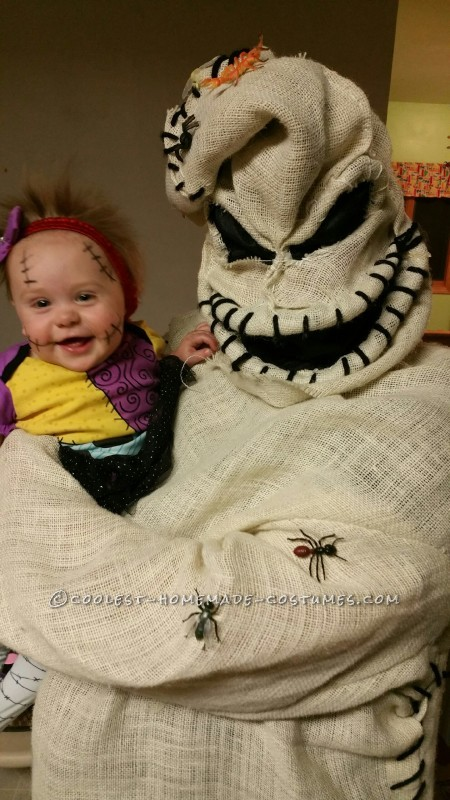 Coolest Oogie Boogie Costume and Baby Sally Doll - 1