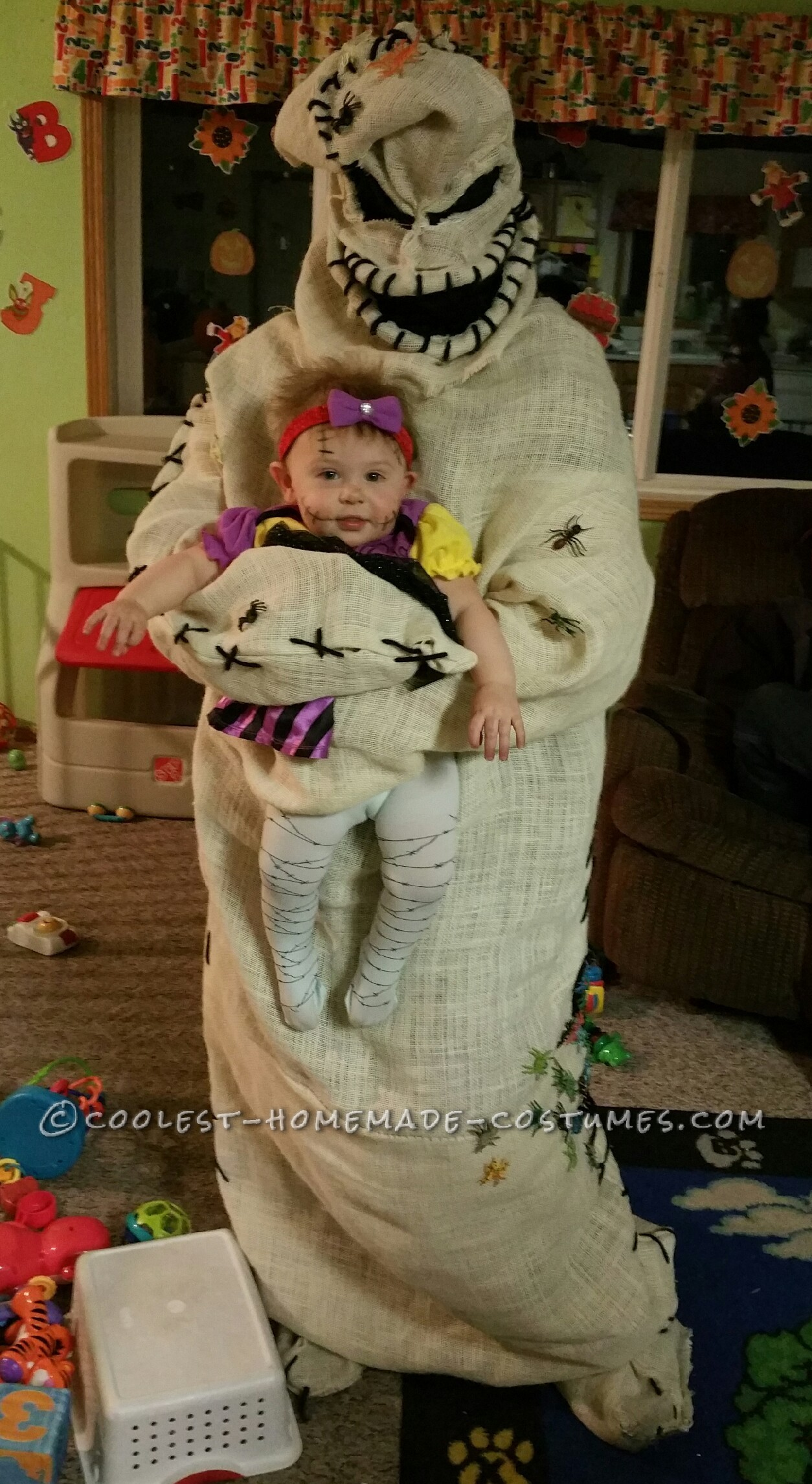 Coolest Oogie Boogie Costume And Baby Sally Doll