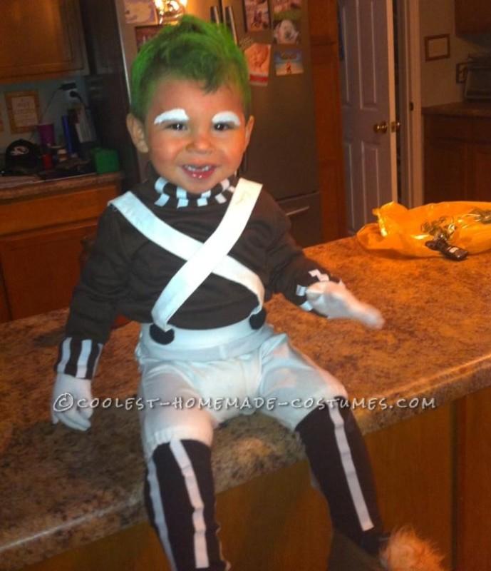 Homemade Toddler Oompa Loompa Costume - 1