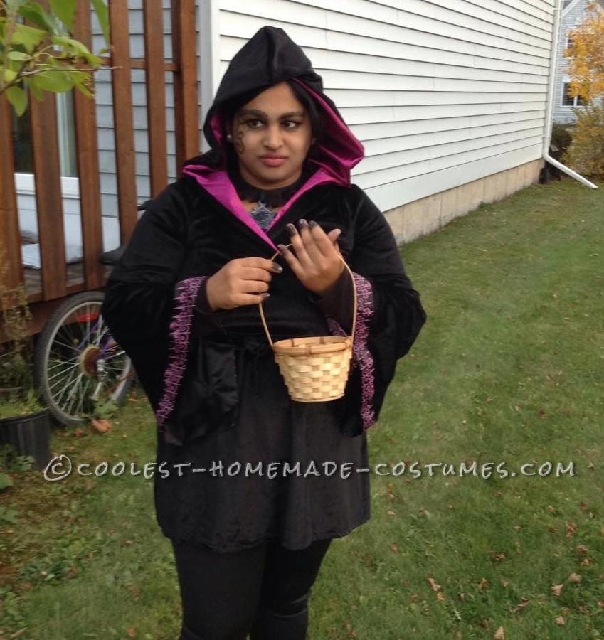 Gothic Little Dark Riding Hood Costume