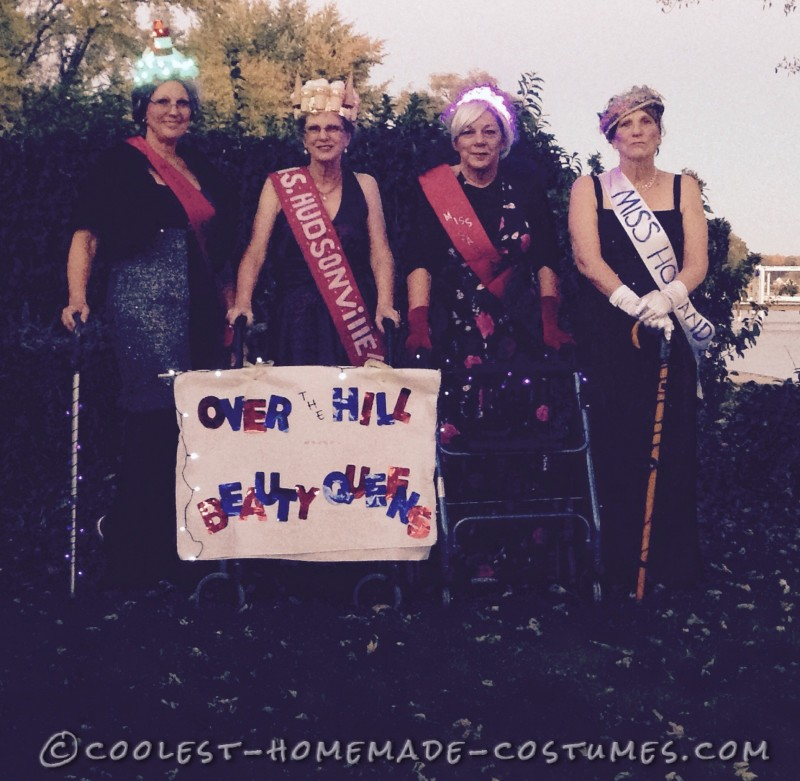 Over the Hill Beauty Queens Group Costume - 1