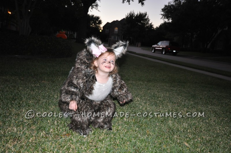 Becoming one with the squirrel costume!