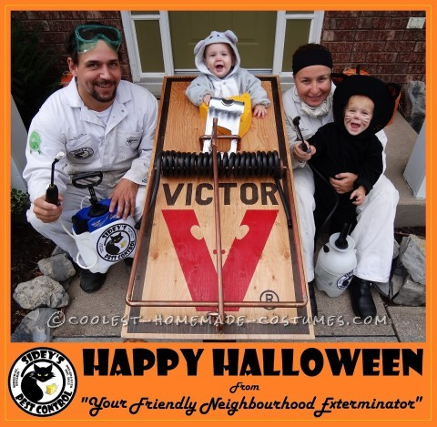 Coolest Pest Control Family Costume - Catch that Mouse!