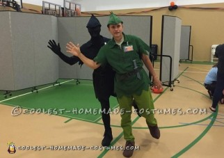 Awesome Couple Costume Idea: Peter Pan and His Shadow