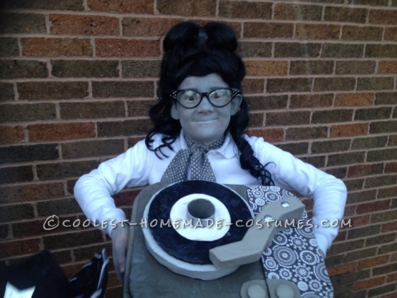 Black and White 50's  TV Family Costume - 9