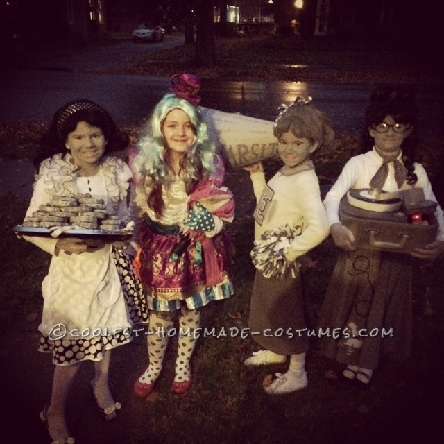 Black and White 50's  TV Family Costume - 4