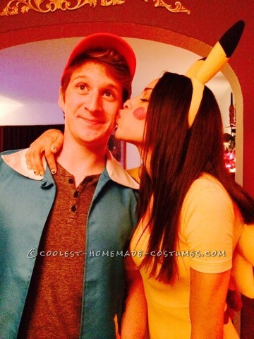 Cute Pikachu and Ash Couple Costume