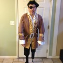 Pirate Costume with a Peg Leg