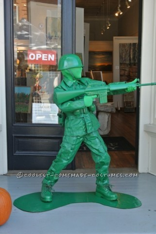 Cool Plastic Army Boy Halloween Costume