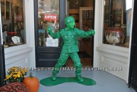 Cool Plastic Army Boy Halloween Costume