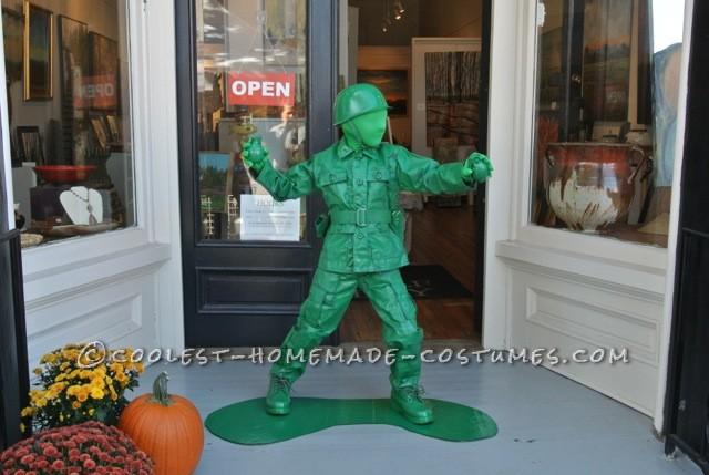 Cool Plastic Army Boy Halloween Costume - 1