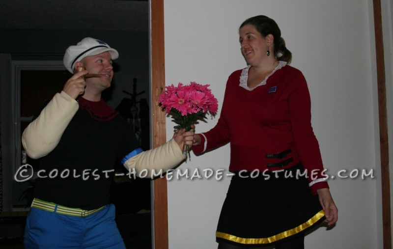 Coolest Popeye and Olive Oyl Costumes - 1